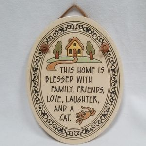 Trinity Pottery Ceramic Oval Wall Plaque This Home